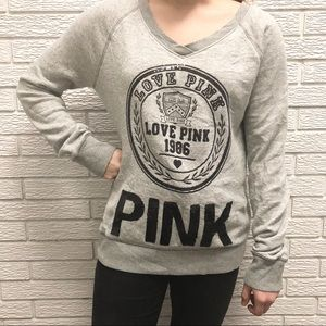 Victoria's Secret | PINK | VNeck Sequin Sweatshirt